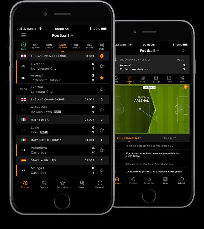 LiveScore app for iPhone | LiveScore com