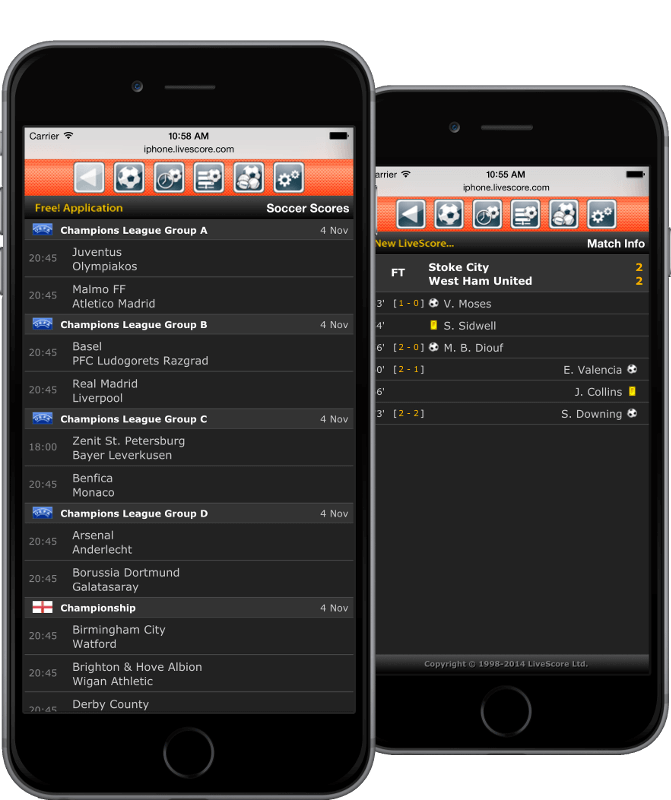 LiveScore app for iPhone | LiveScore com
